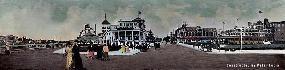 Foot Of Asbury Avenue Panorama